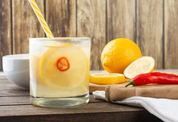 eau citron piment pour maigrir rapidement