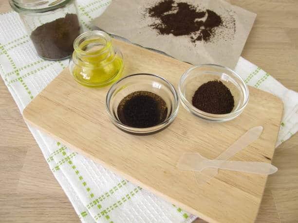 gommage marc de café huile olive wrap minceur