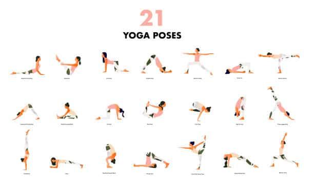 21 poses yoga exercices facile débutant yoga