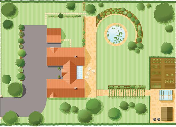 plan potager maison grand jardin organisation