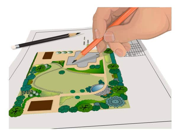 plan potager organisation jardin maison