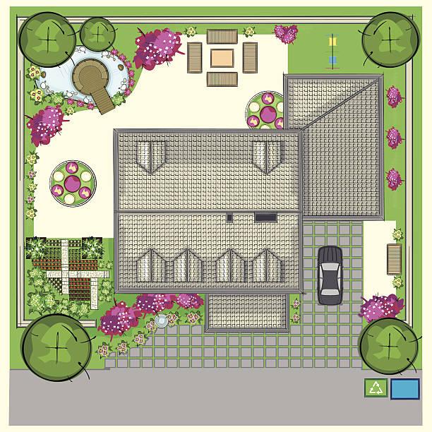 plan potager organiser jardin maison